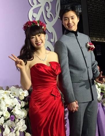 福原愛と江宏傑の結婚式の様子