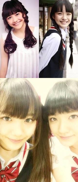 小島藤子と松井愛莉の比較画像