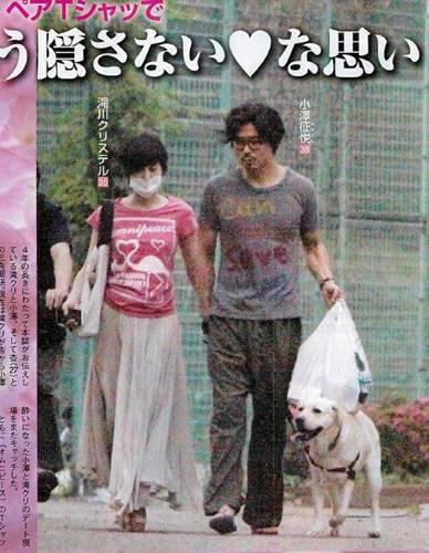 小澤征悦と滝川クリステルのデート画像