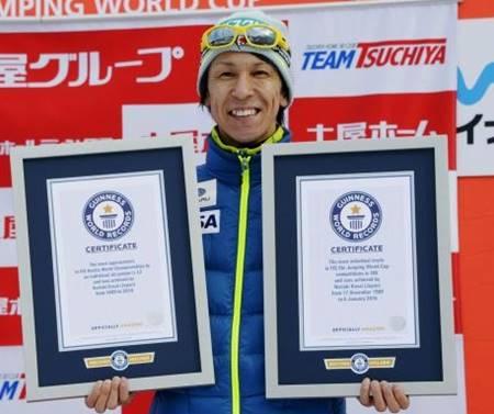 ギネス世界記録5冠を達成した葛西紀明