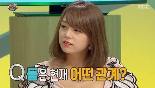 韓国のテレビ番組に出演する篠崎愛