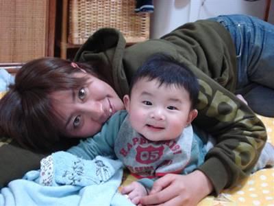 竹内智香と子供の2ショット画像①
