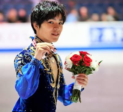 世界で活躍するフィギュアスケート選手の宇野昌磨