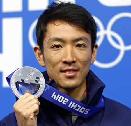ソチオリンピックで銀メダルを獲得した渡部暁斗