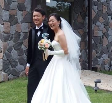 渡部暁斗と山崎ゆりえの結婚式