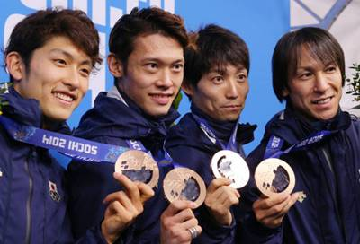 ソチオリンピックのスキージャンプ男子団体で銅メダルを獲得した時の竹内択