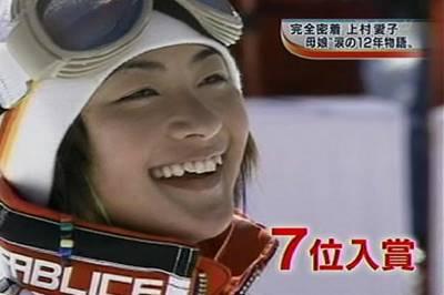 長野オリンピック出場時の上村愛子