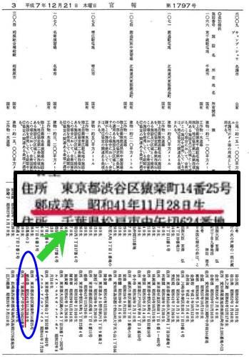 安田成美だとされる女性の日本帰化情報