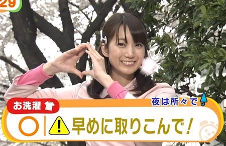 めざましテレビのお天気キャスターだった小野彩香